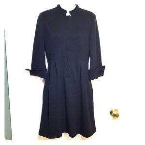 Diane von Furstenberg black fit and flare dress
